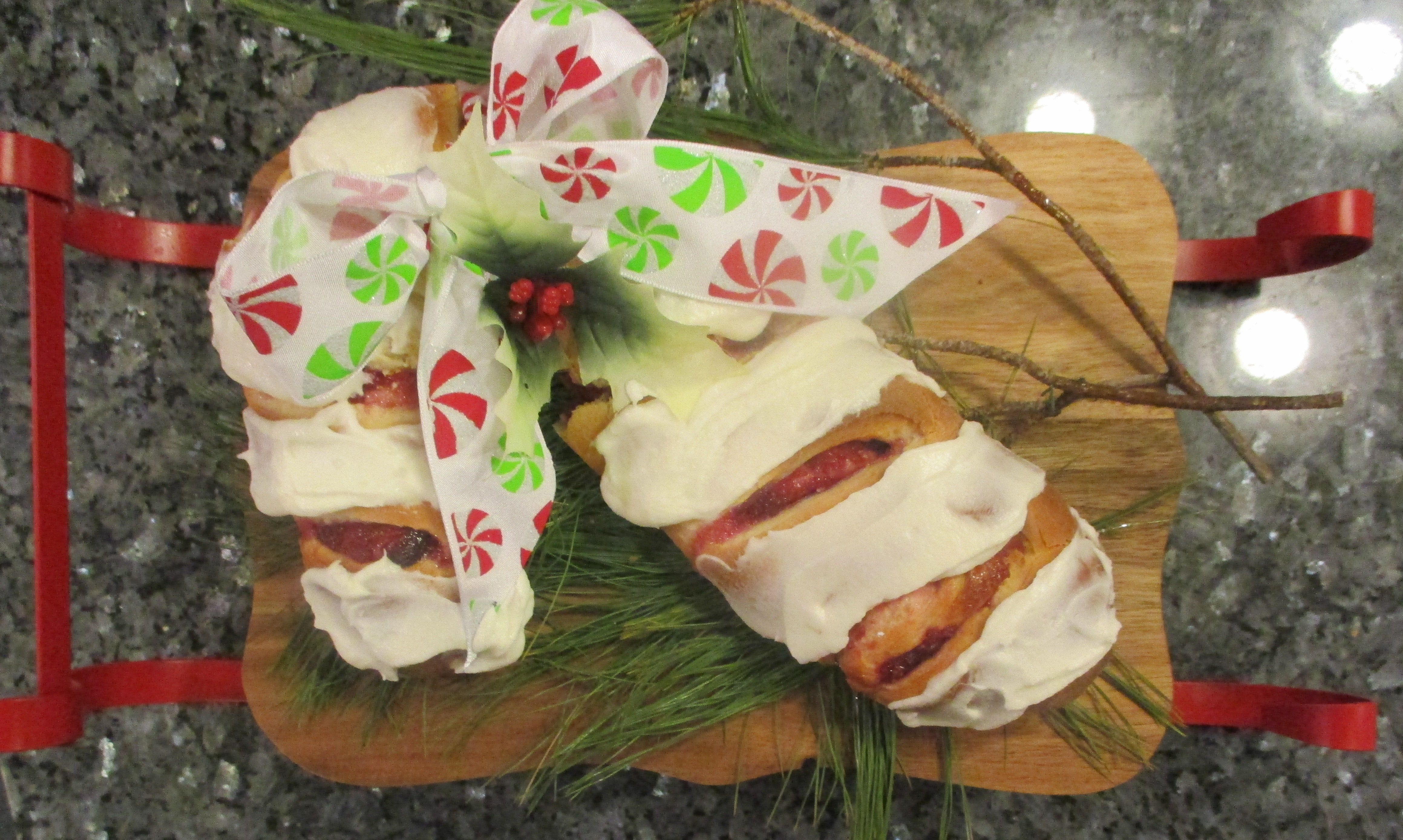 Candy Cane Coffee Cake Recipe