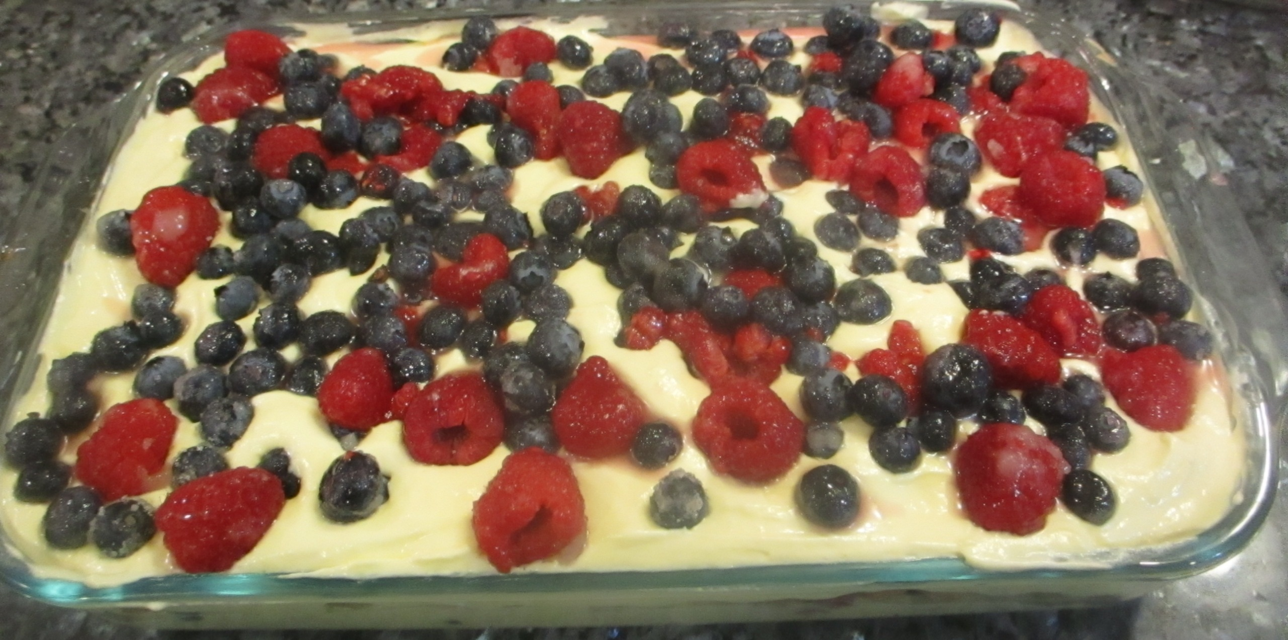 Red, White, & Blue Tiramisu Recipe