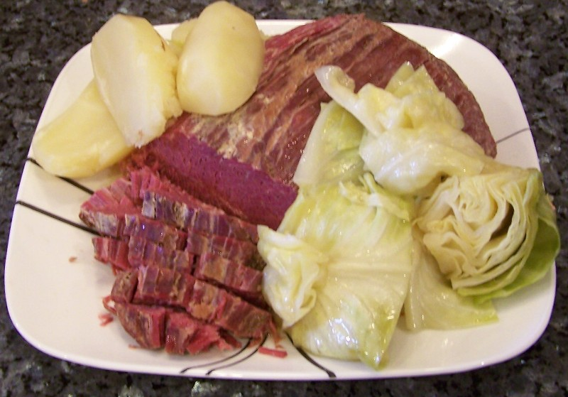 Corned Beef With Cabbage Recipe — Dishmaps