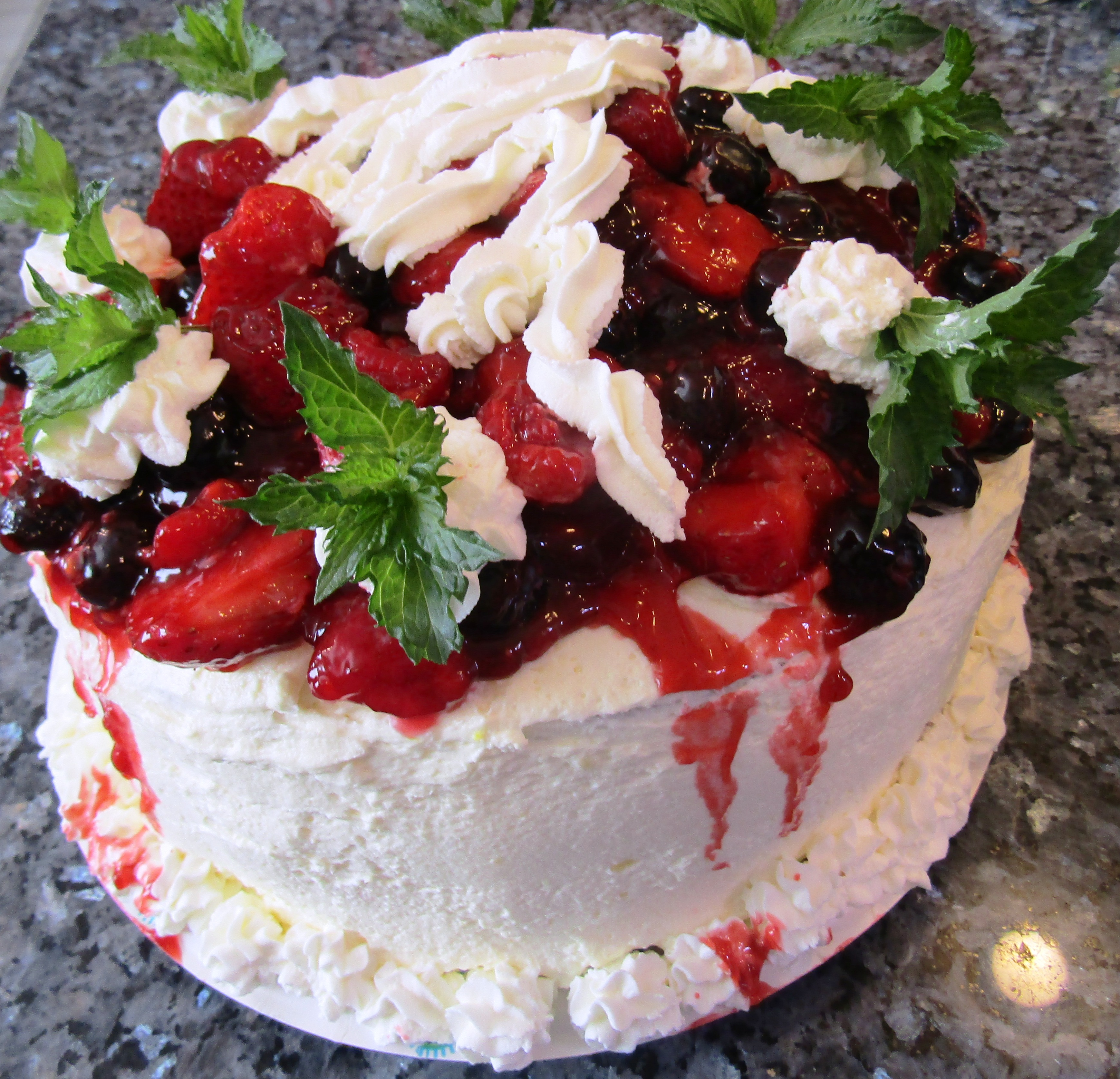 Summer Berries & Cream Cake Recipe