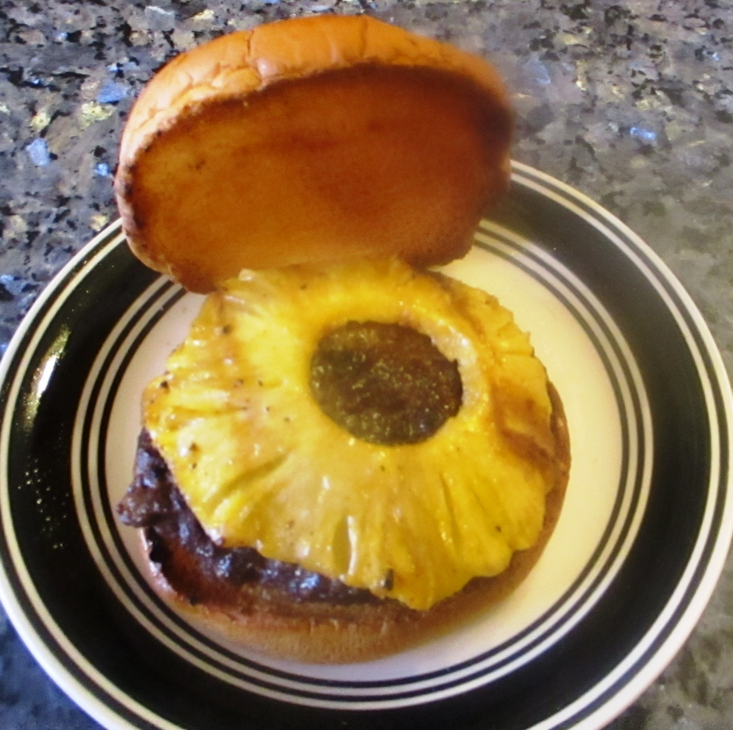 Teriyaki Burgers with Grilled Pineapple Recipe