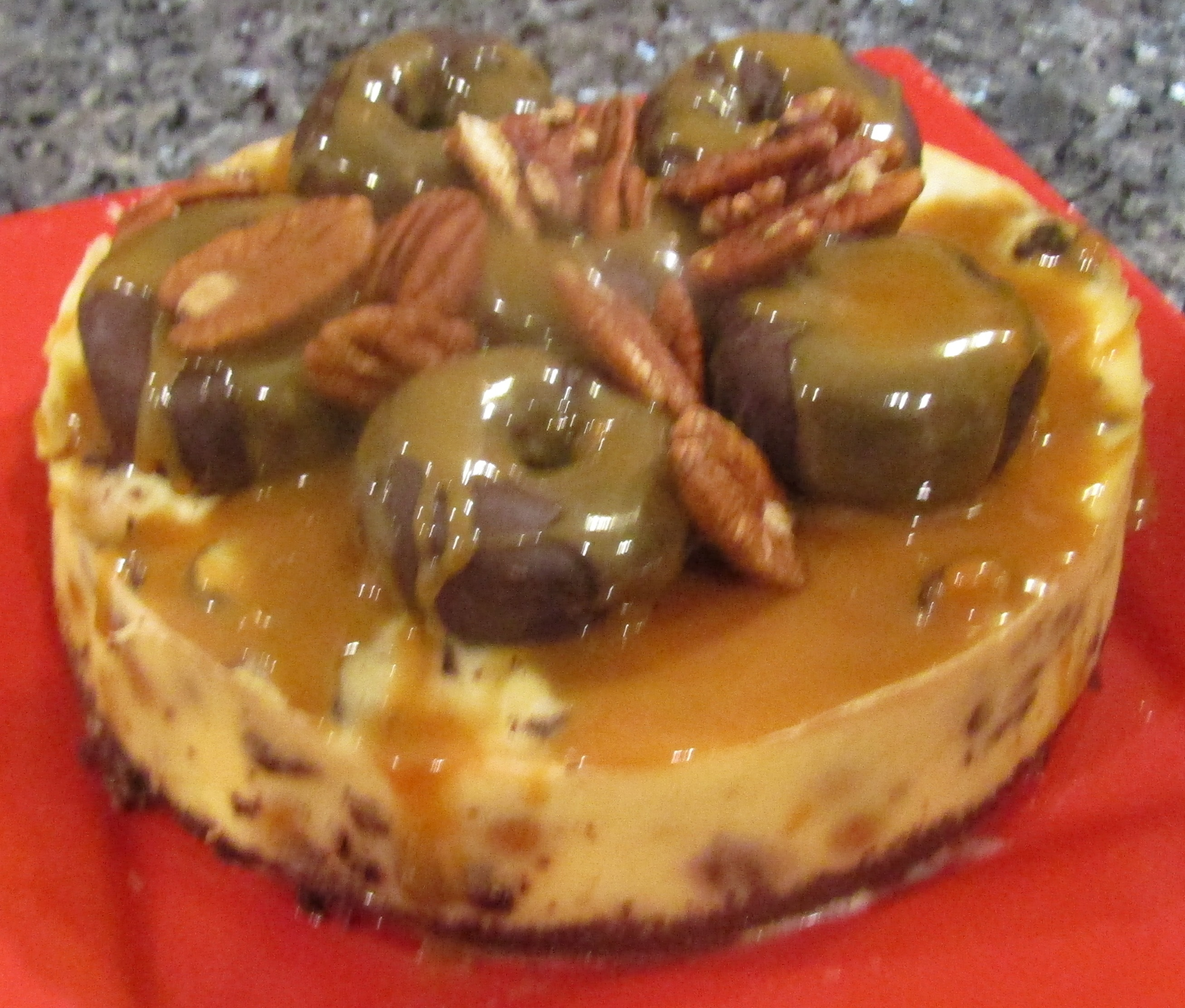 Mini Chocolate Donut Turtle Cheesecake Recipe