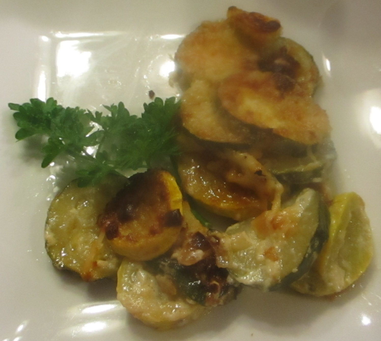 Zucchini & Yellow Squash Gratin Recipe